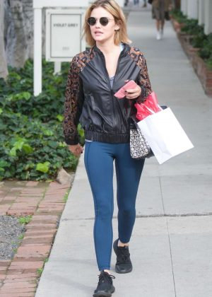 Lucy Hale - Leaving Kate Somerville Skincare in West Hollywood