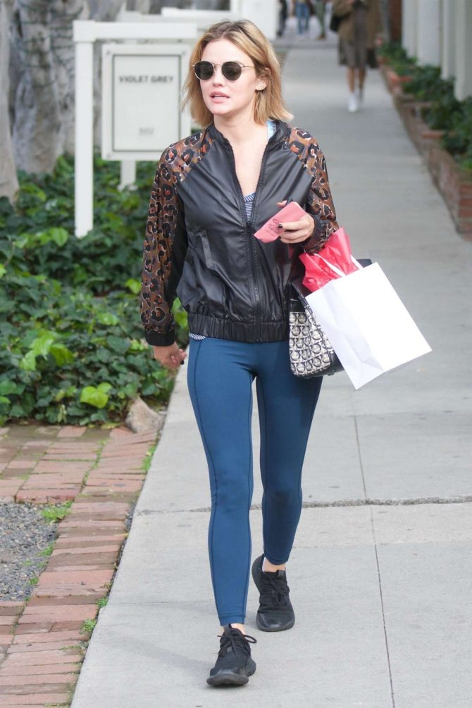 Lucy Hale – Leaving Kate Somerville Skincare in West Hollywood