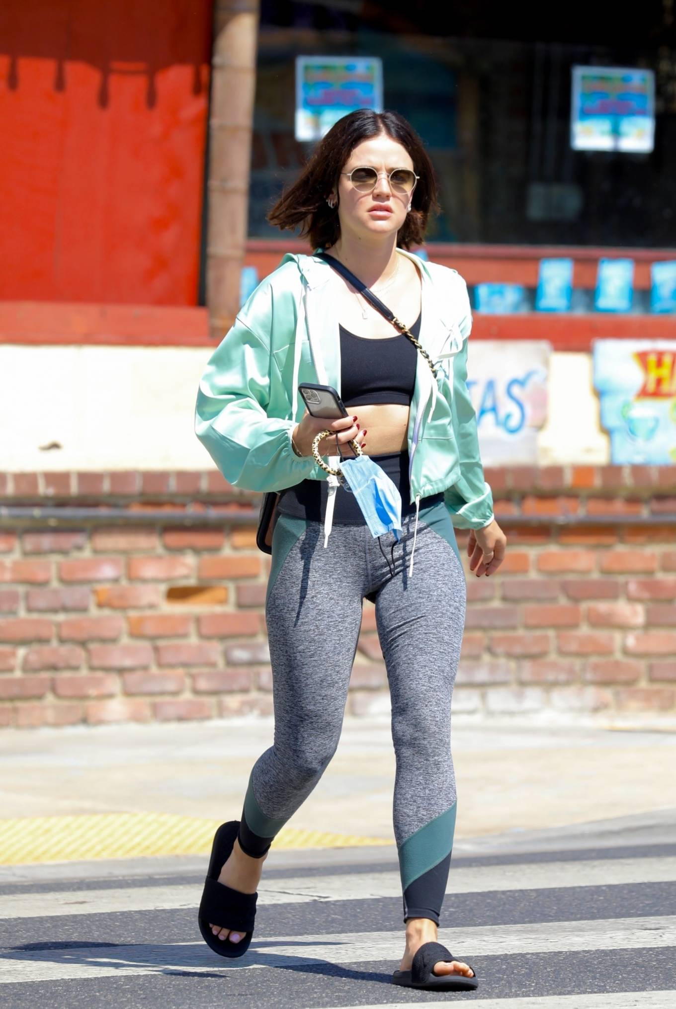 Lucy Hale - leaving Remedy on Sunset after a 2-hour workout session in Los Angeles