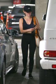 Lucy Hale - Leaving Soul Cycle in Los Angeles