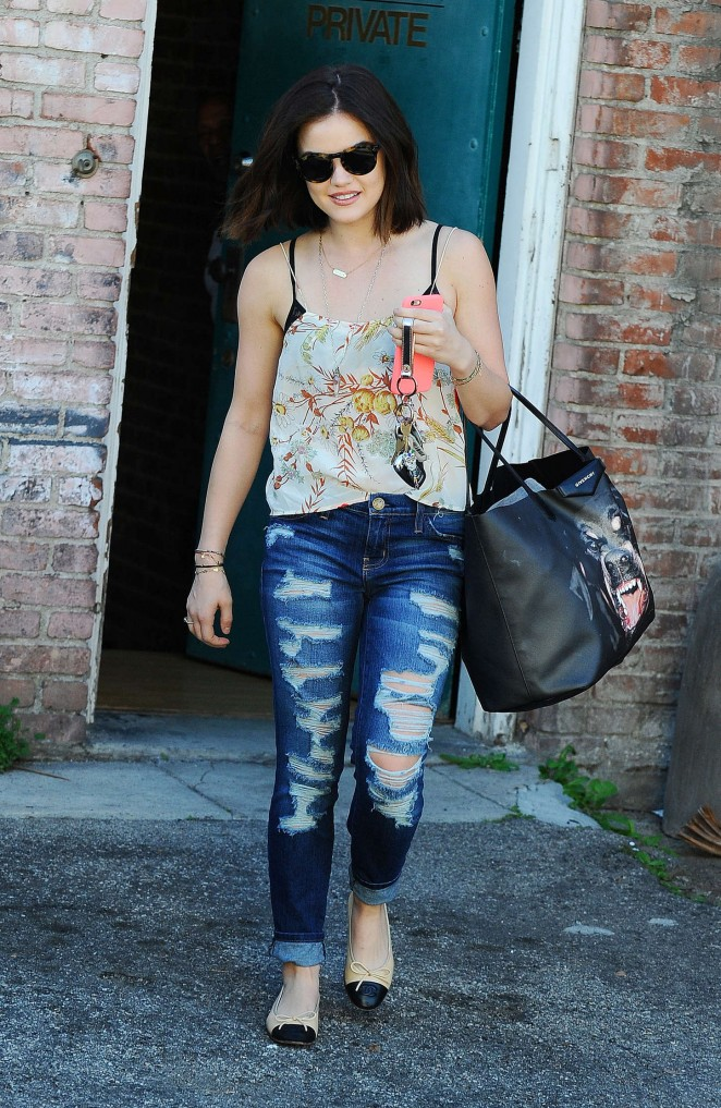 Lucy Hale in Ripped Jeans -02 - GotCeleb