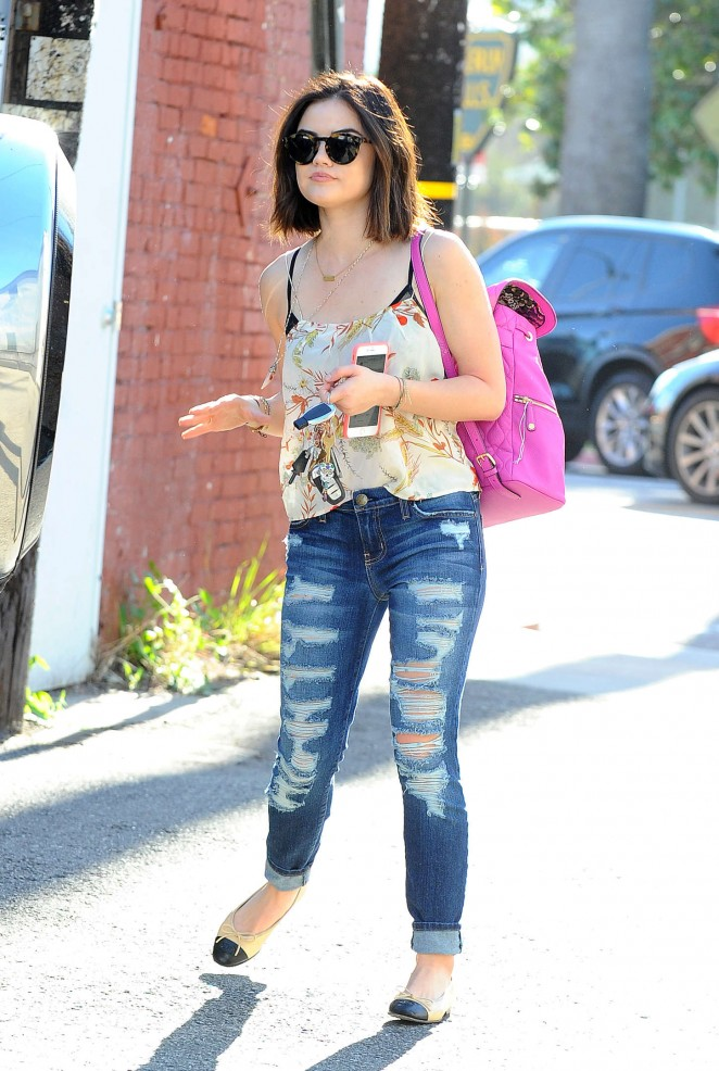 Lucy Hale in Ripped Jeans -16 - GotCeleb