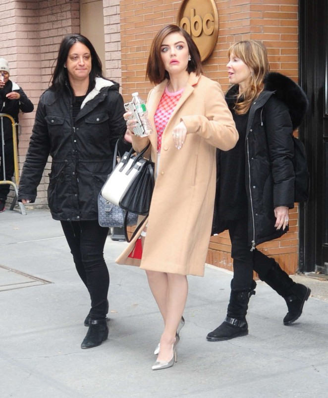 Lucy Hale Leaving 'The View' in New York