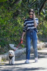 Lucy Hale - Looks casual as she out for a solo dog walk