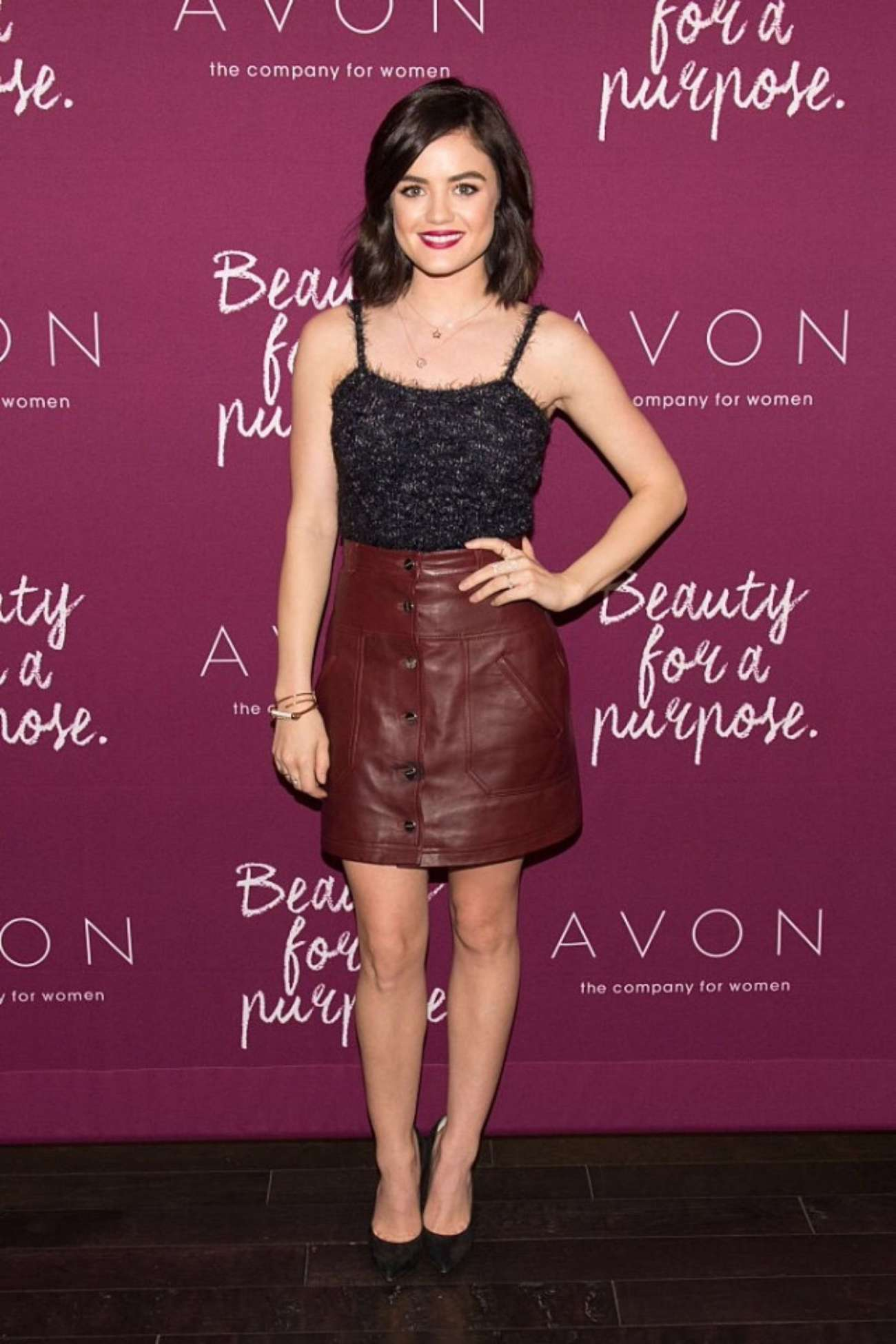 Lucy Hale - Mark. Holiday Collection Event at Avon Products in New York