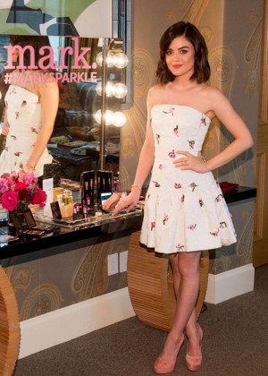 Lucy Hale - Mark. Holiday Collection Event in New York