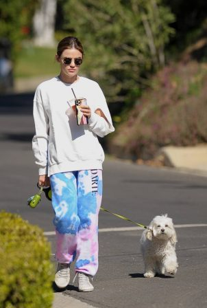 Lucy Hale - Morning walk in Los Angeles