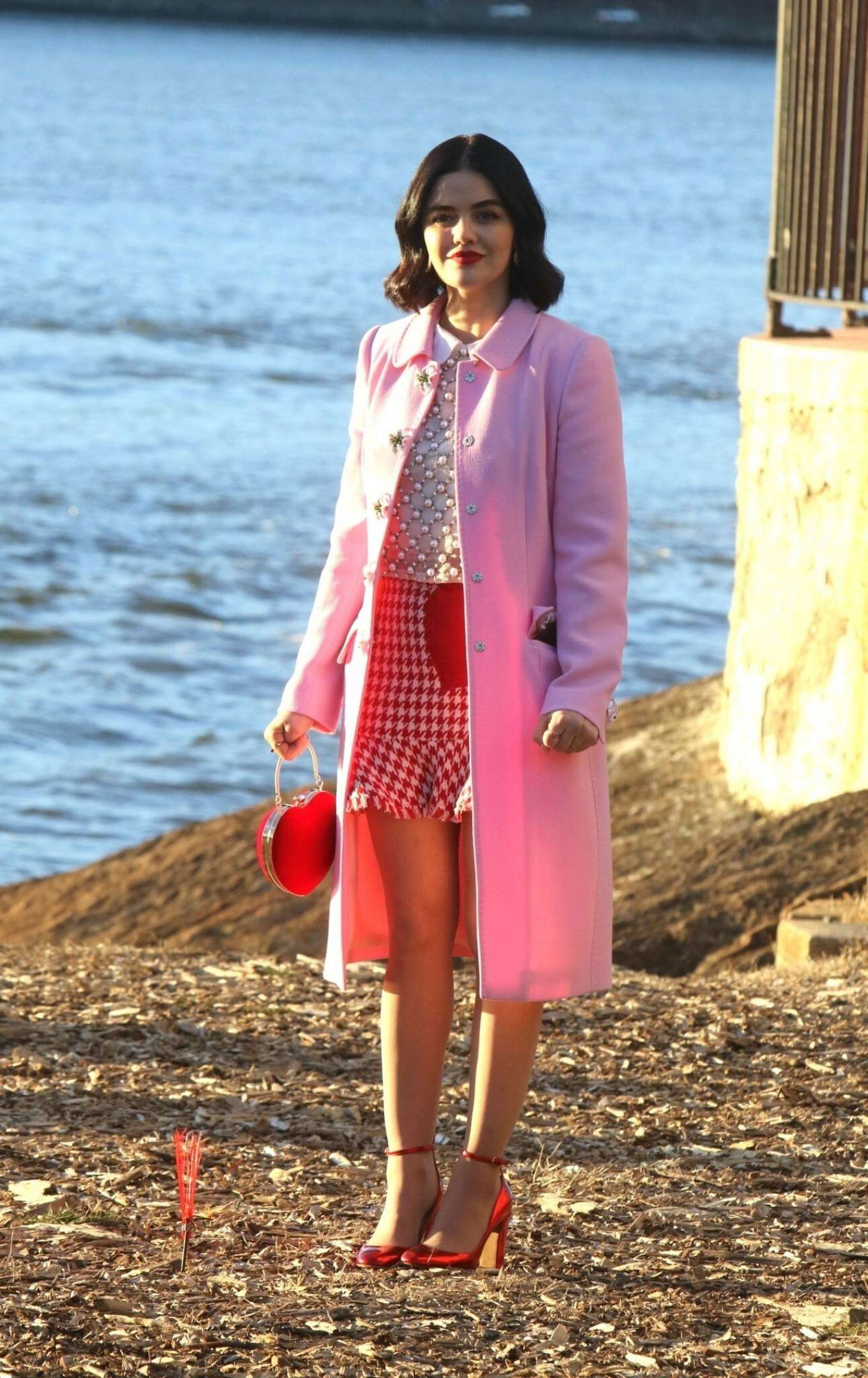 Lucy Hale - On the set 'Katy Keene' in New York City