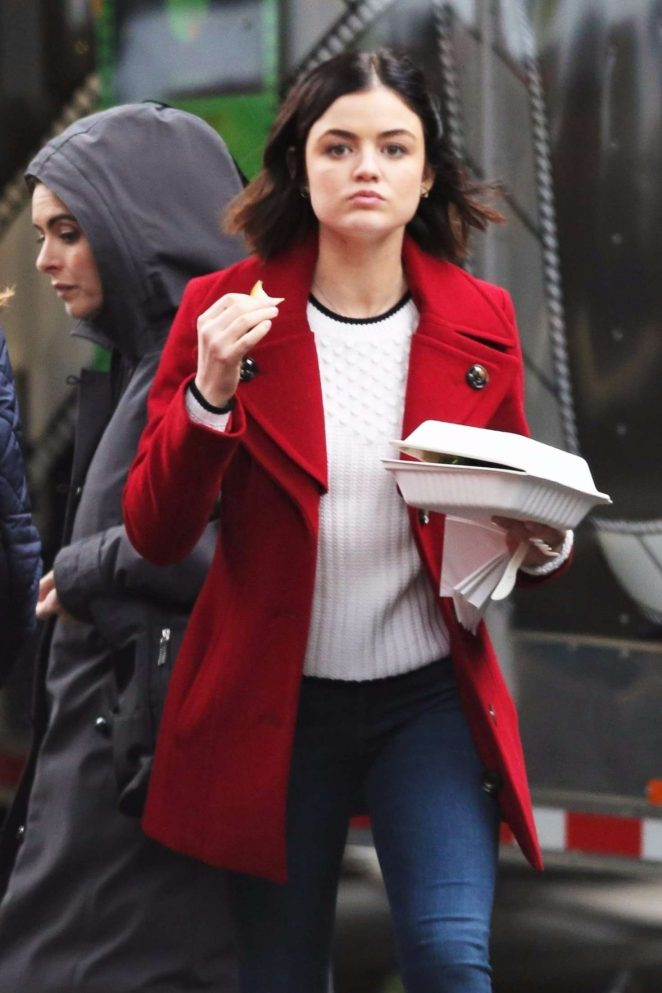 Lucy Hale - On the set of her show 'Life Sentence' in Vancouver