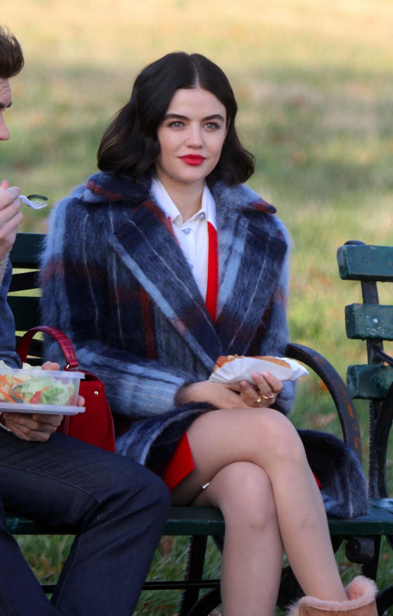 Lucy Hale - On the set of 'Katy Keene' in New York City