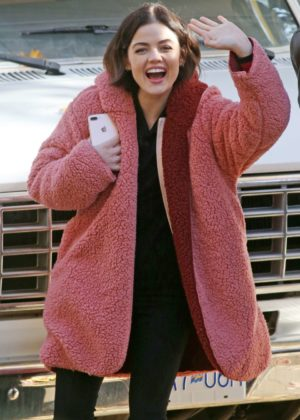 Lucy Hale - On the set of 'Life Sentence' in Vancouver