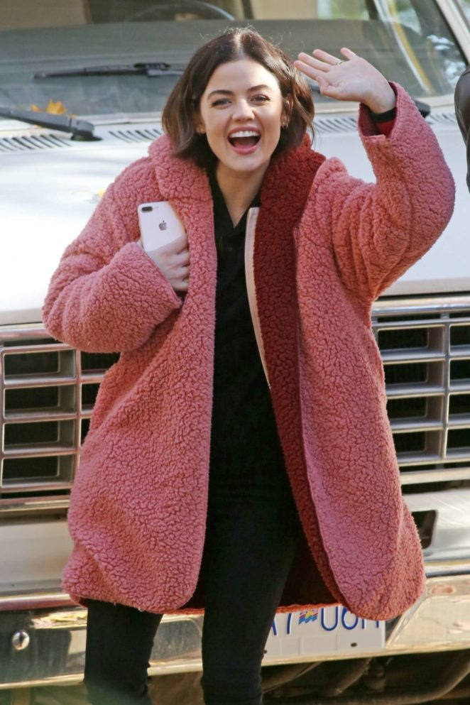 Lucy Hale – On the set of 'Life Sentence' in Vancouver