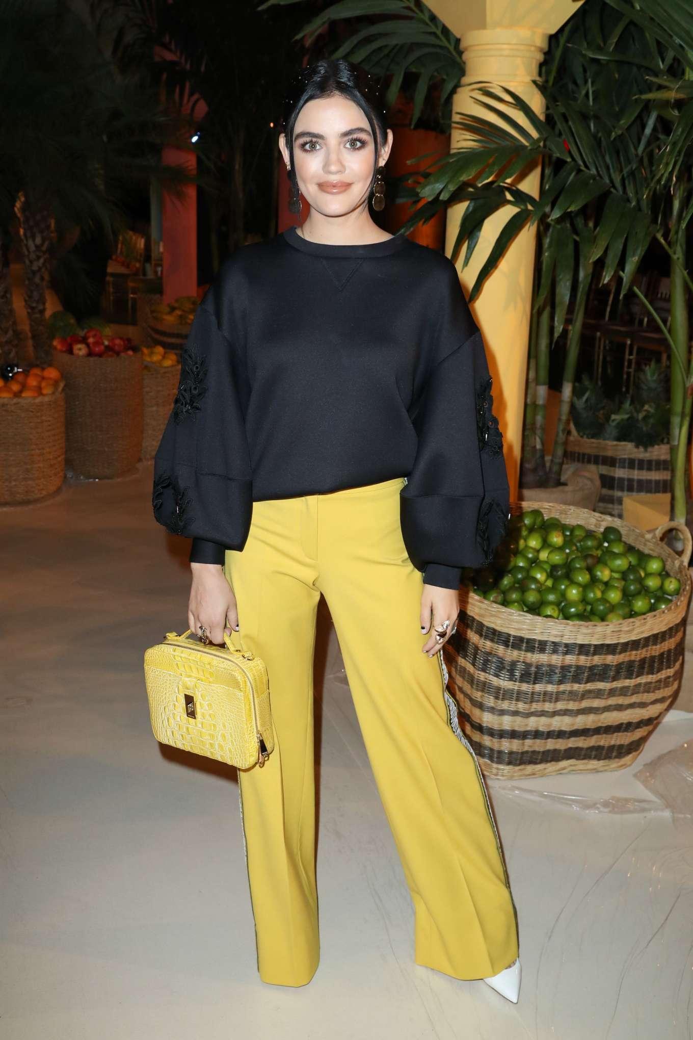 Lucy Hale - Oscar de la Renta Fashion Show - New York Fashion Week