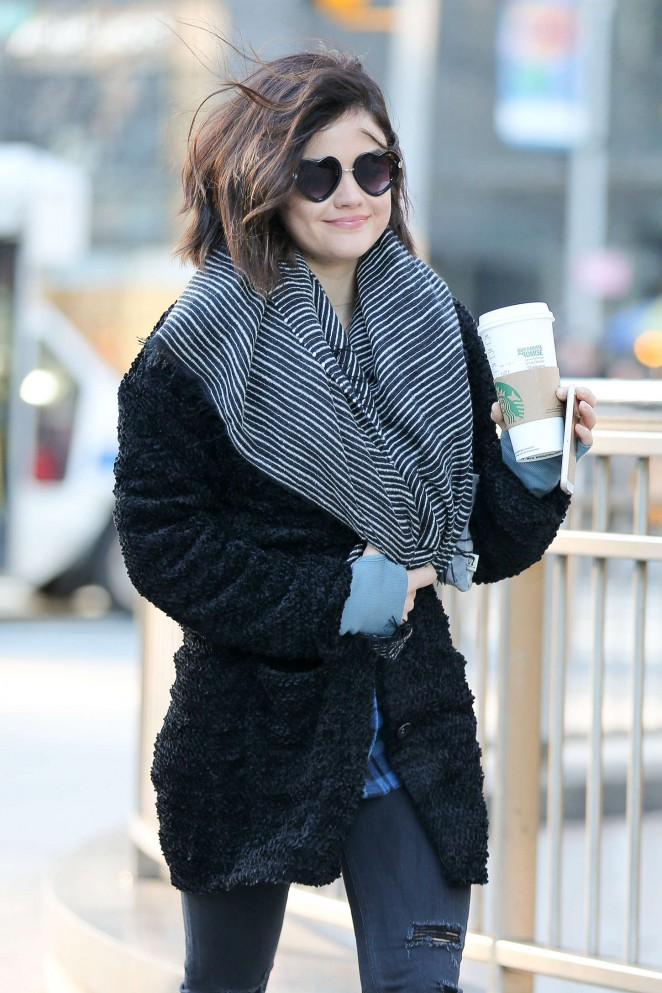 Lucy Hale – Out and about in NYC