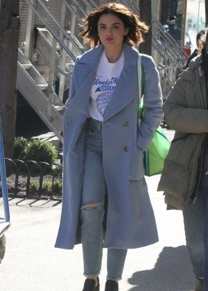 Lucy Hale - Out and about in NYC