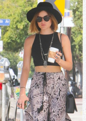 Lucy Hale in Tank Top out in West Hollywood