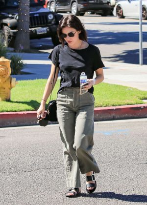 Lucy Hale - Out and about with a friend in LA