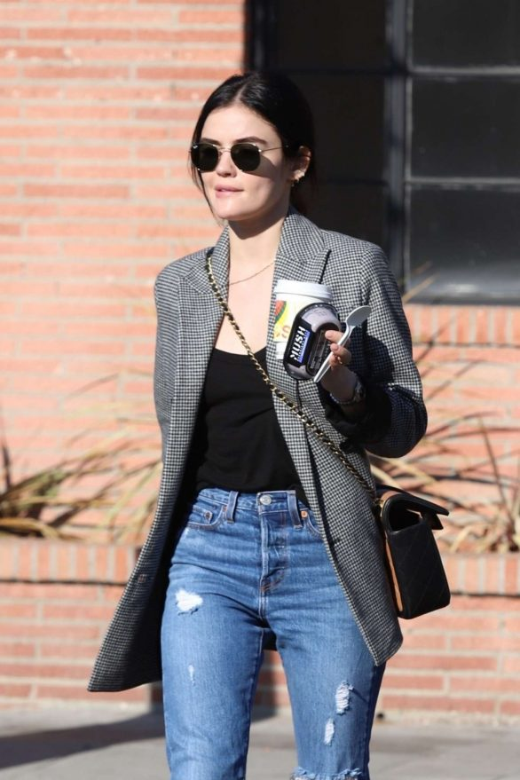 Lucy Hale - Out for a cup of Joe at Alfred Coffee in Studio City