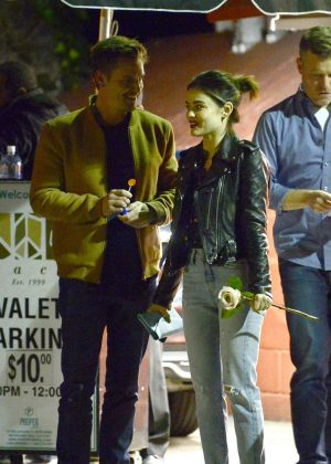Lucy Hale out for a dinner in Los Angeles