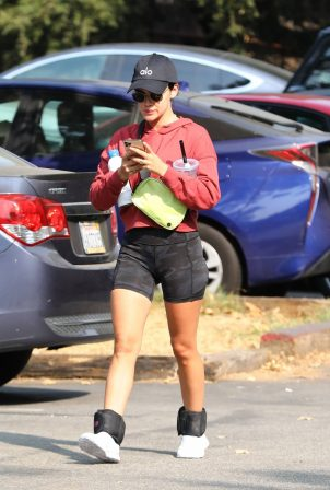 Lucy Hale - Out for a hike in the Hollywood Hills