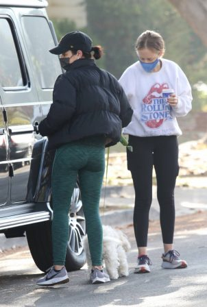 Lucy Hale - Out for a hike with a friend in Studio City