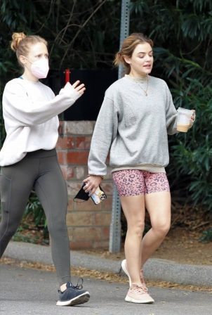 Lucy Hale - Out for a morning hike in Studio City