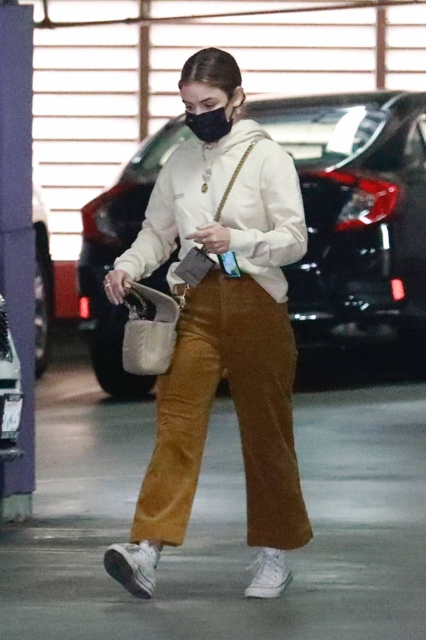 Lucy Hale 2021 : Lucy Hale – Out for a shopping at the Jewelry Store in Downtown Los Angeles-05