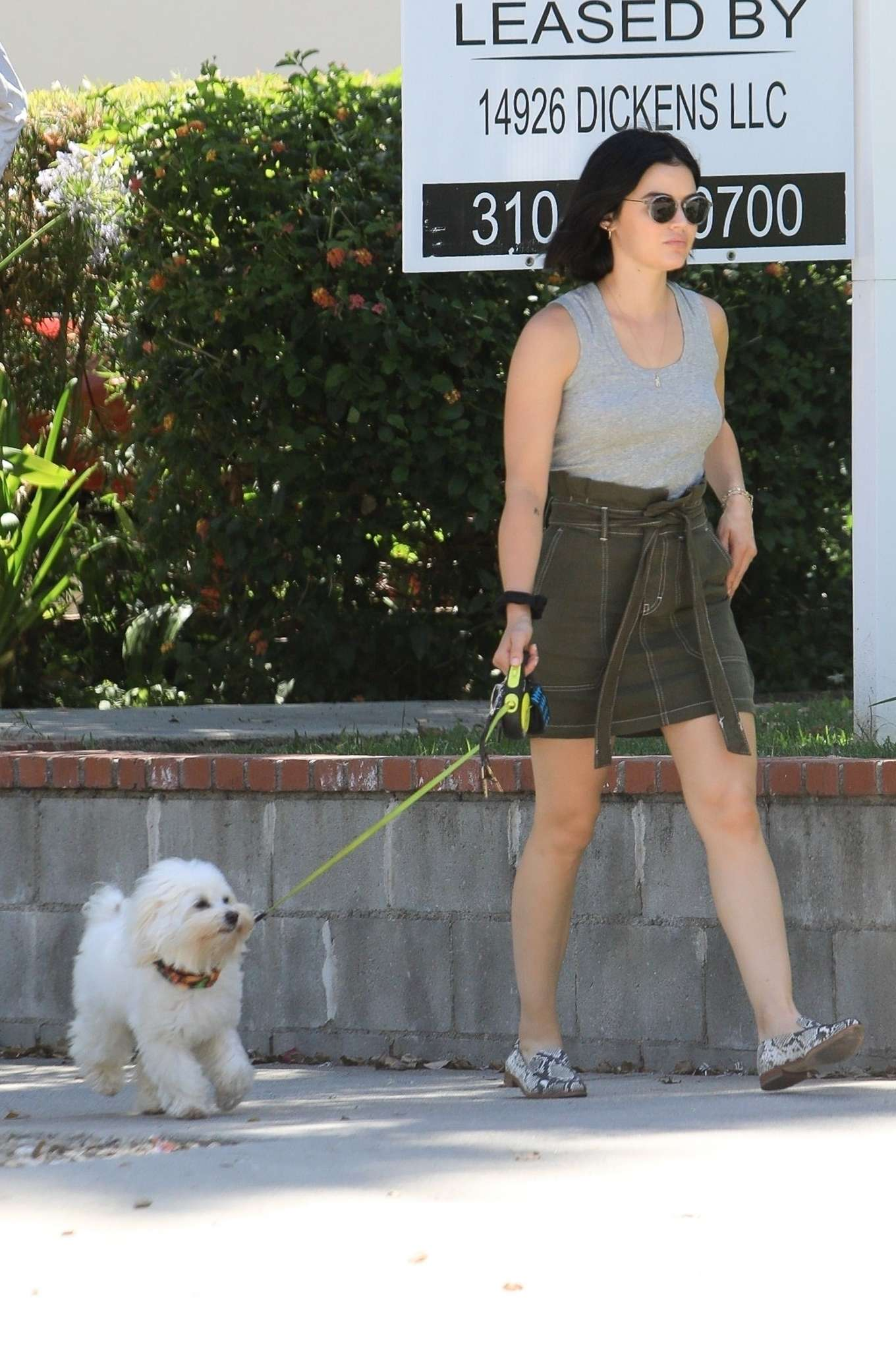 Lucy Hale 2019 : Lucy Hale – Out for a walk with her dog in LA-02