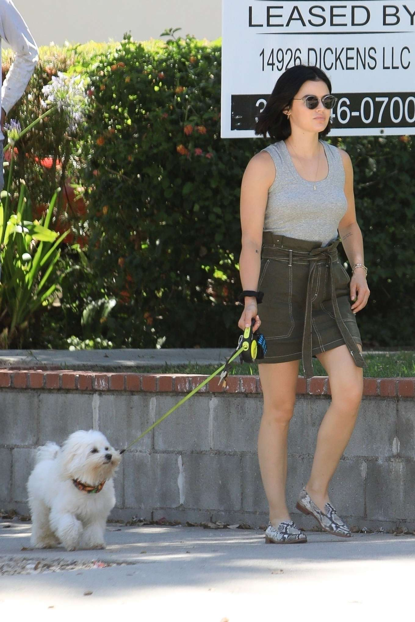 Lucy Hale 2019 : Lucy Hale – Out for a walk with her dog in LA-04