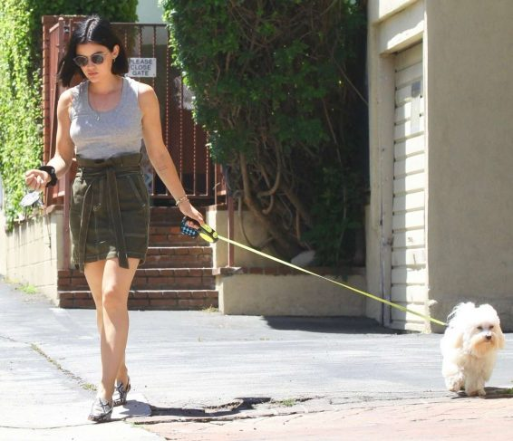 Lucy Hale 2019 : Lucy Hale – Out for a walk with her dog in LA-09