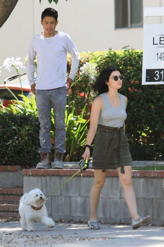 Lucy Hale 2019 : Lucy Hale – Out for a walk with her dog in LA-11