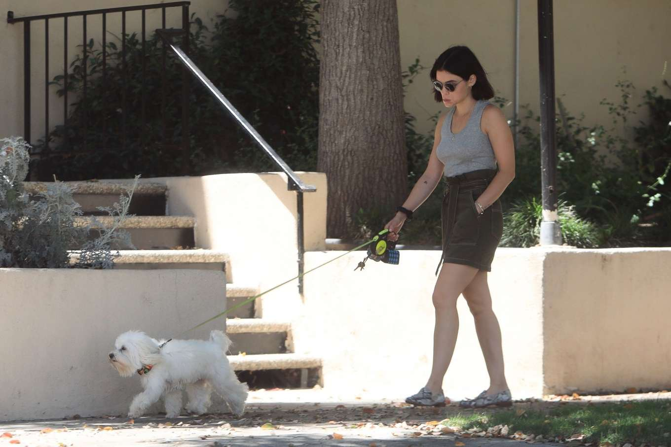 Lucy Hale 2019 : Lucy Hale – Out for a walk with her dog in LA-12