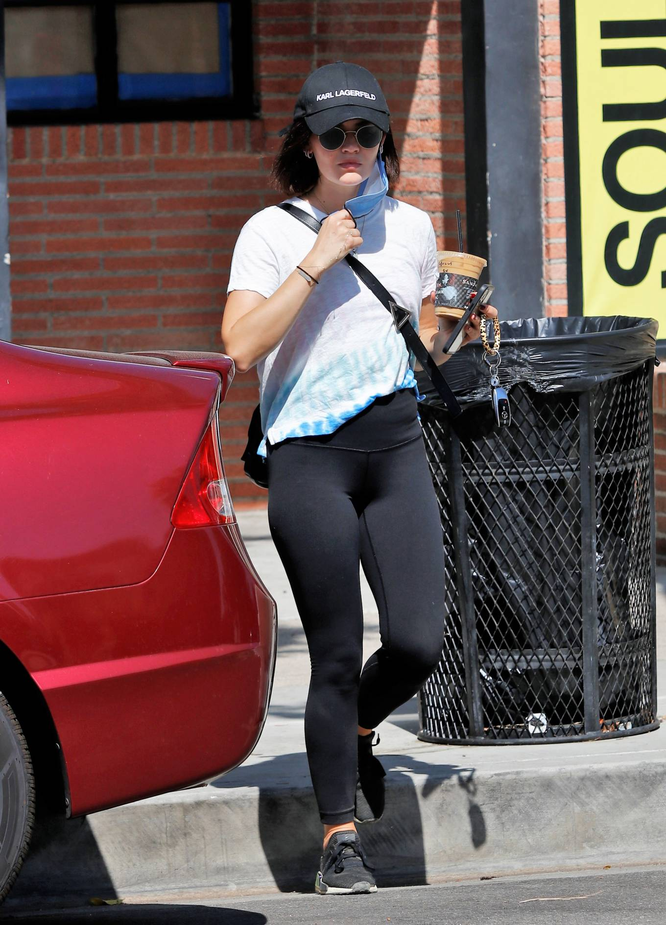 Lucy Hale - Out For an Iced Coffee in Los Angeles