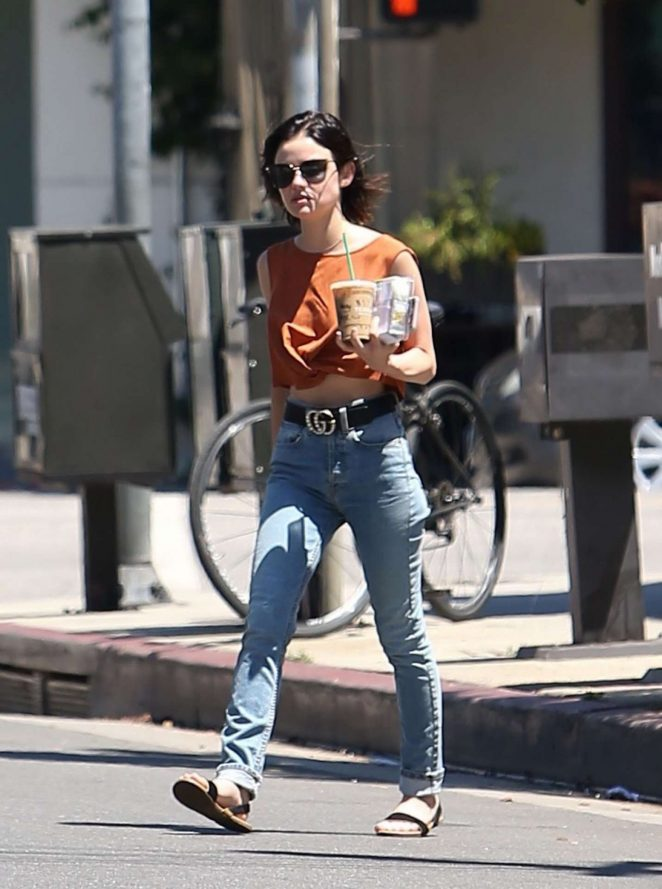 Lucy Hale Out for Coffee in Los Angeles