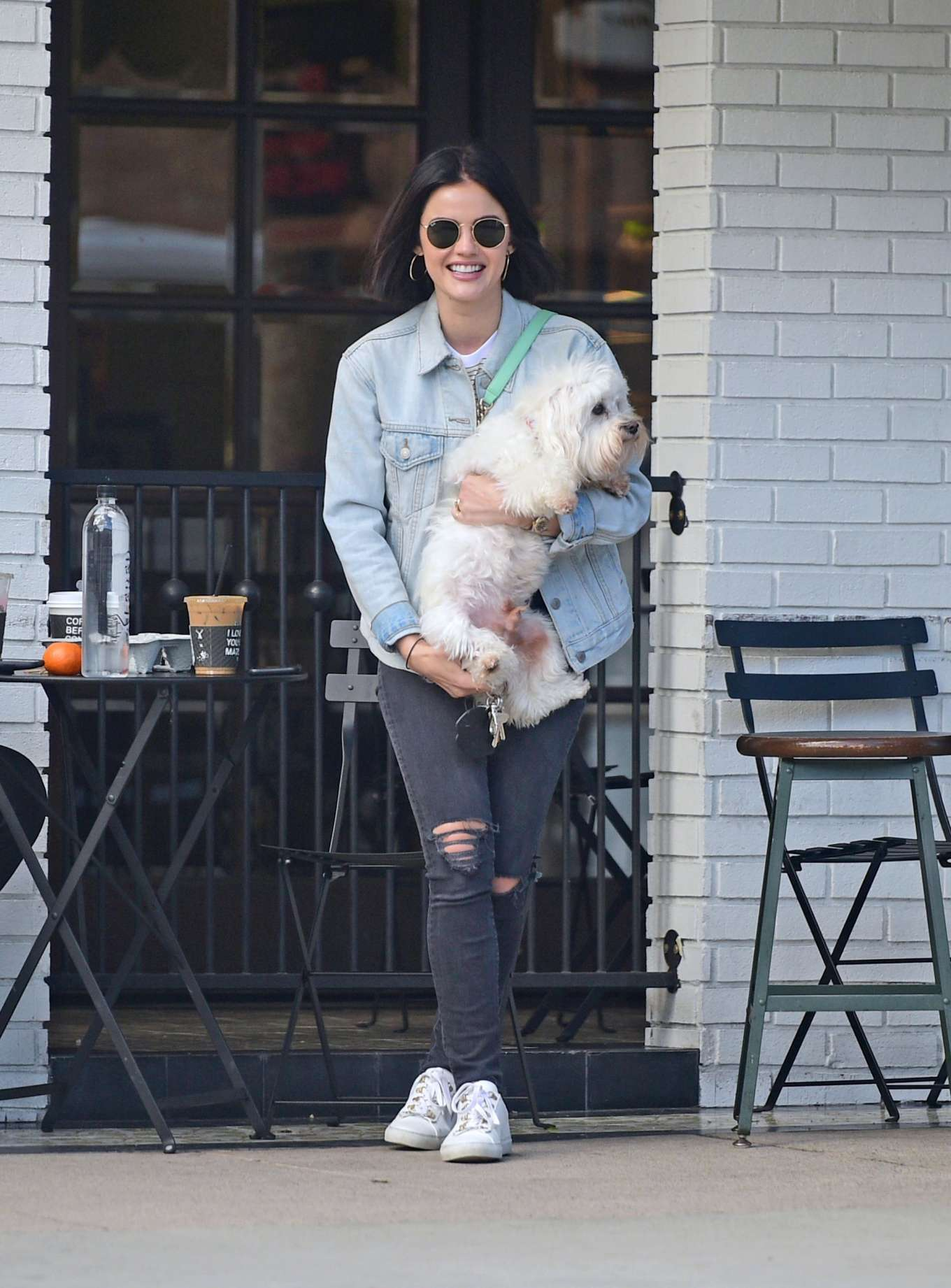 Lucy Hale - Out for coffee with Elvis in LA