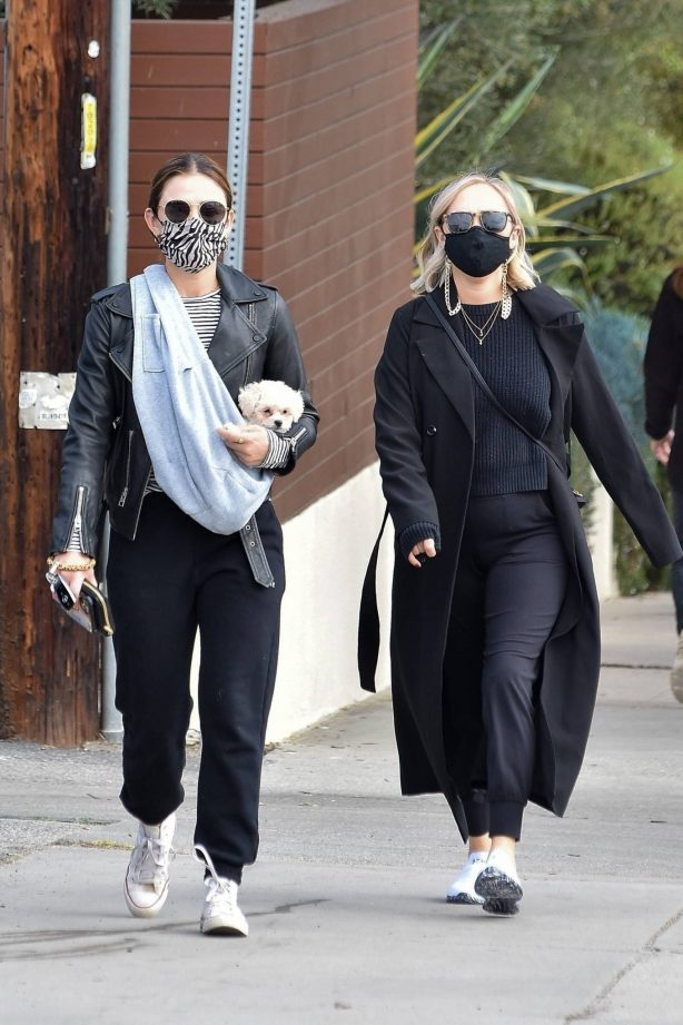 Lucy Hale - Out for lunch with a friend in Studio City
