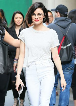 Lucy Hale out in NYC