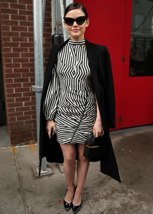 Lucy Hale out to Fashion Week in New York