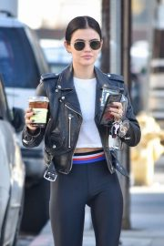 Lucy Hale - outside a gym in Studio City