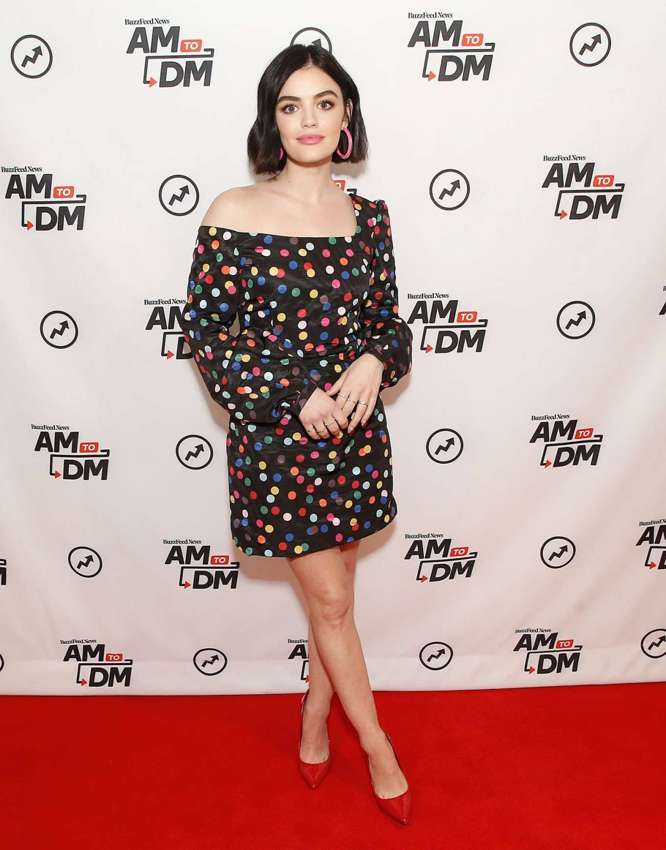Lucy Hale 2020 : Lucy Hale – Pictured on BuzzFeeds AM To DM in NYC-01