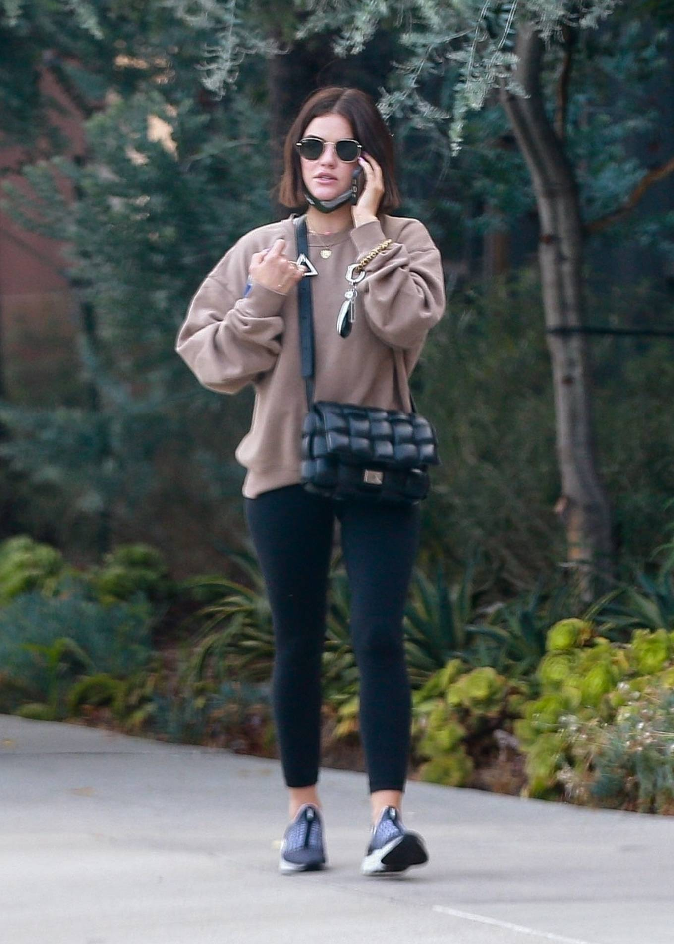 Lucy Hale - Running errands in Beverly Hills