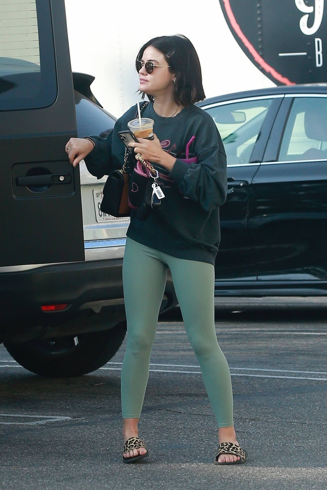 Lucy Hale - Seen after gym in Los Angeles