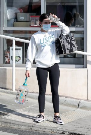 Lucy Hale - Seen after her workout in Los Angeles