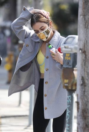 Lucy Hale - Seen after shopping at Erewhon Market in Los Angeles