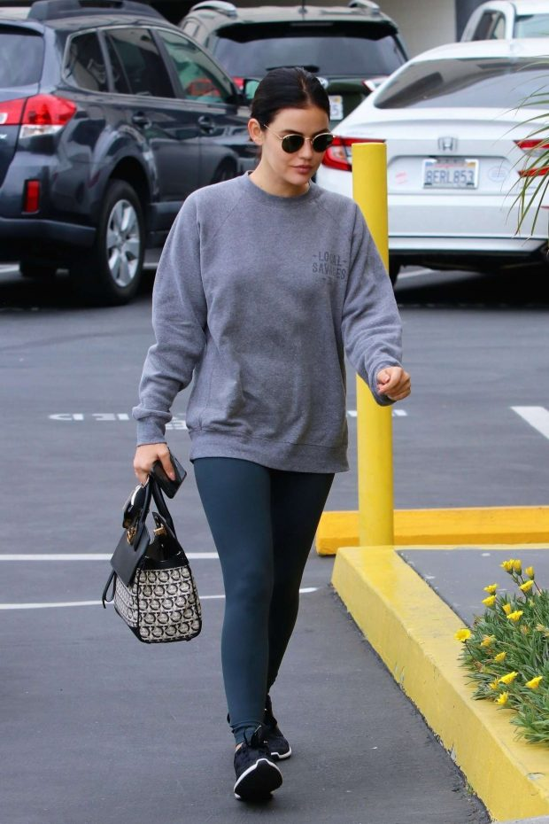 Lucy Hale - Seen at a Dentists office in Toluca Lake