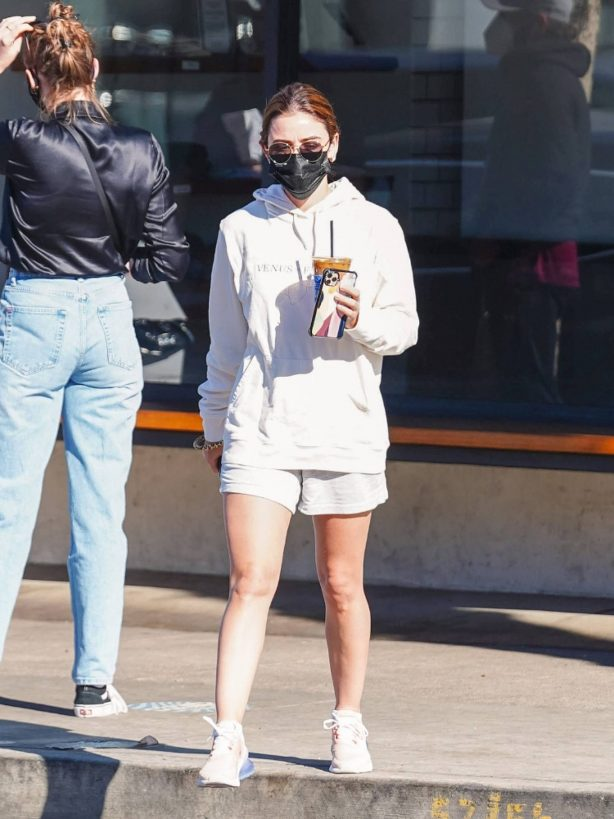 Lucy Hale - Seen at Alfred Coffee in Studio City