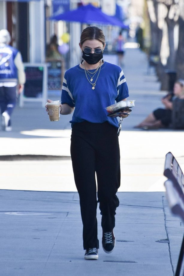Lucy Hale - Seen at Starbucks in Studio City