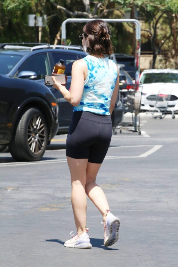 Lucy Hale - Seen hiking in Los Angeles