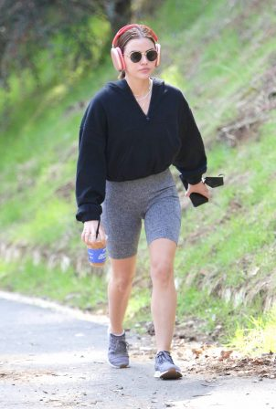 Lucy Hale - Seen Out for a hike in Los Angeles