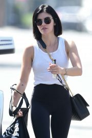 Lucy Hale - Seen outside a gym in Studio City